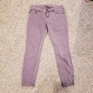 Free People size 26 purple ankle pants jeans